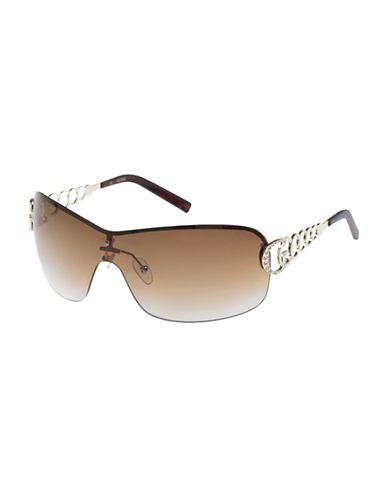 Guess Havana Shield Sunglasses-HAVANA-One Size