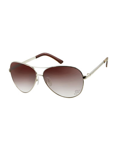 Guess 62mm Aviator Sunglasses-GOLD-One Size