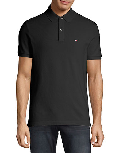 Tommy Hilfiger Ivy Custom Fit Polo-TOMMY BLACK-Large