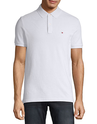 Tommy Hilfiger Ivy Custom Fit Polo-CLASSIC WHITE-Medium