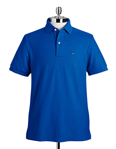 Tommy Hilfiger Ivy Custom Fit Polo-NILE BLUE-Large