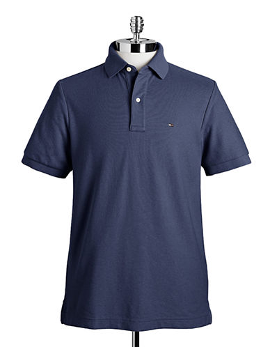 Tommy Hilfiger Ivy Custom Fit Polo-CLASSIC NAVY-Medium