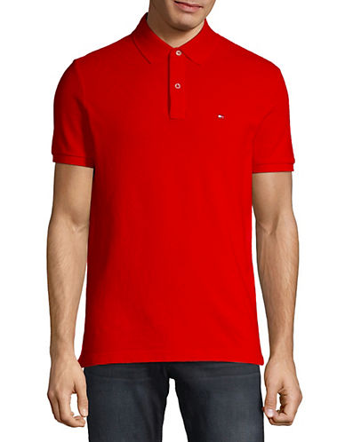 Tommy Hilfiger Ivy Custom Fit Polo-REGAL RED-X-Large