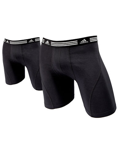 Adidas Athletic Stretch 2 Pack Boxer Brief-BLACK-Small 87094711_BLACK_Small