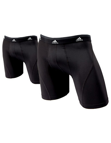 Adidas Sport Performance Climalite 2 Pack Boxer Brief-BLACK-Medium