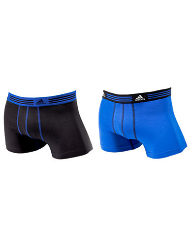 Adidas Athletic Stretch 2 Pack Trunk-COBALT/BLACK-Medium