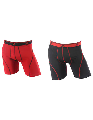 Adidas Sport Performance Climalite 2 Pack Boxer Brief-RED/BLACK-Small