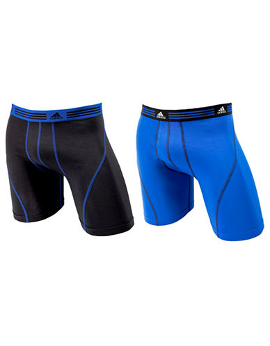 Adidas Athletic Stretch 2 Pack Boxer Brief-COBALT/BLACK-X-Large