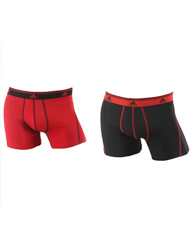 Adidas Sport Performance Climalite 2 Pack Trunk-RED/BLACK-X-Large