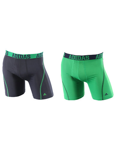 Adidas Sport Performance Climacool 2 Pack Boxer Brief-URBAN GREEN-X-Large