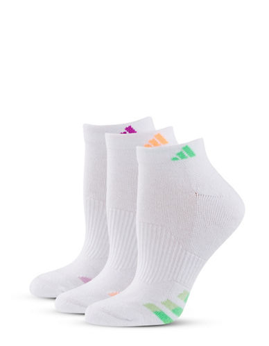 Adidas Three-Pack Cush Variegate Ankle Socks-ASST-One Size