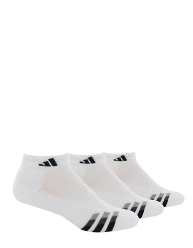 Adidas Cushioned Three-Pack Low Cut Socks-WHITE-One Size