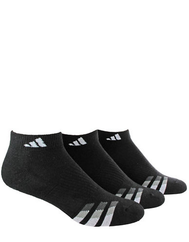 Adidas Three-Pack Cushioned Low Cut Socks-BLACK-One Size 88040285_BLACK_One Size