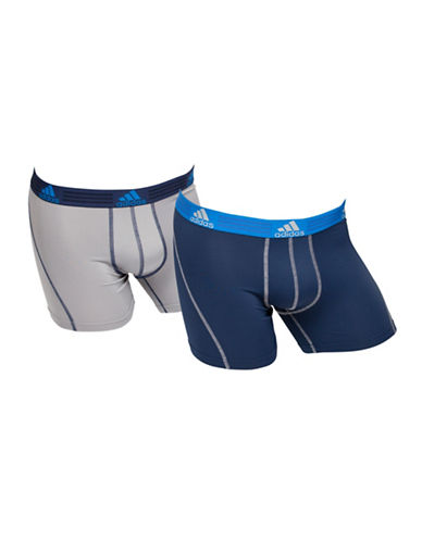 Adidas Two-Pack Climalite Trunks-NAVY/ONYX-Large