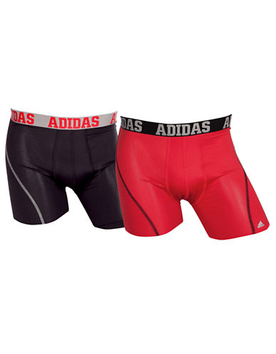 Adidas Two-Pack Performance Boxer Briefs-RED-Small