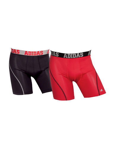 Adidas Two-Pack Climacool Boxer Briefs-RED/BLACK-Small