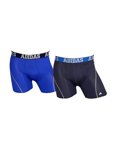 Adidas Two-Pack Climacool Trunks-BOLD BLUE-Small