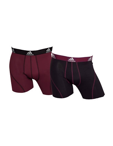 Adidas Two-Pack Climalite Trunks-MAROON/BLACK-Small
