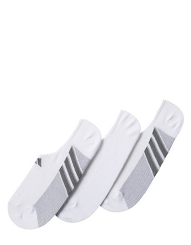 Adidas Climacool Superlite No Show Three Pack of Socks-WHITE-Large