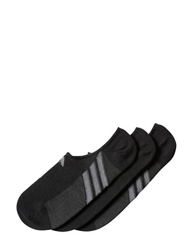 Adidas Climacool Superlite No Show Socks-BLACK-Large