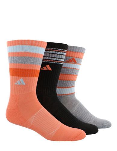 Adidas Retro II Three-Pack Crew Socks-ORANGE-Medium