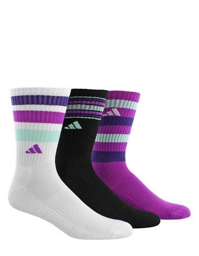 Adidas Retro II Three-Pack Crew Socks-WHITE-Medium