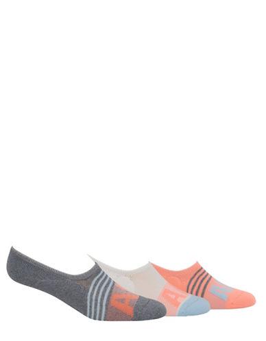 Adidas adiStripe Super No-Show Socks-GREY-Medium