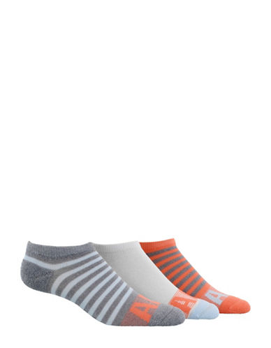 Adidas adiStripe No-Show Socks-GREY-Medium