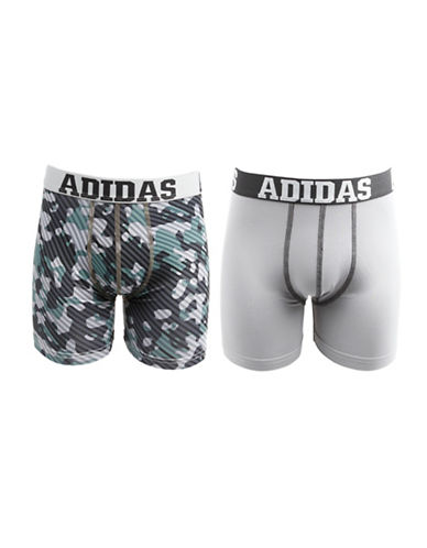 Adidas Two-Pack Sport Performance Climalite Boxer Briefs-GREY CAMO-X-Large