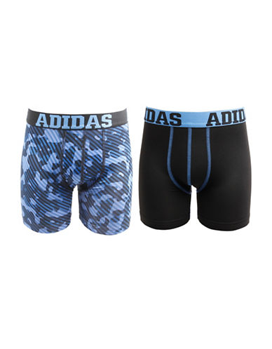 Adidas Two-Pack Sport Performance Climalite Boxer Briefs-BLACK CAMO-X-Large