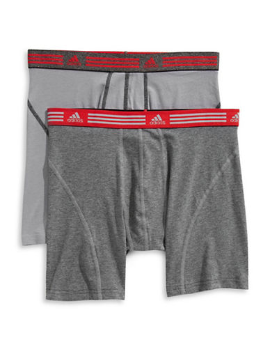 Adidas Two-Pack Athletic Stretch Boxer Briefs-GREY-Small 89855277_GREY_Small