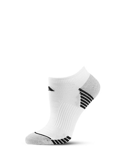 Adidas Two-Pair Striped Mesh Climalite Socks-WHITE-One Size