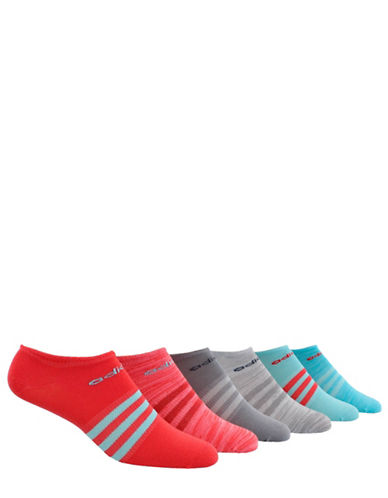 Adidas Six-Pack Superlite No-Show Socks Set-PINK-One Size