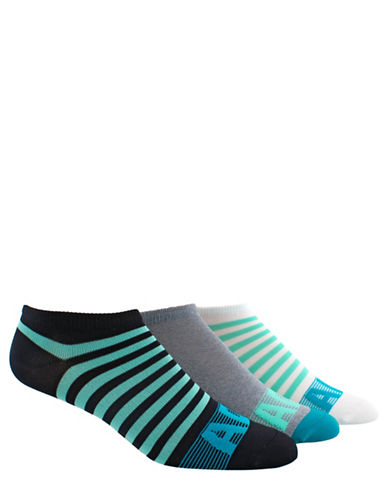 Adidas Three-Pack Adistripe No-Show Socks Set-BLACK-One Size