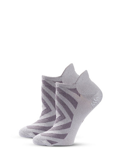 Adidas Two-Pair Studio Climalite No Show Socks-GREY-One Size