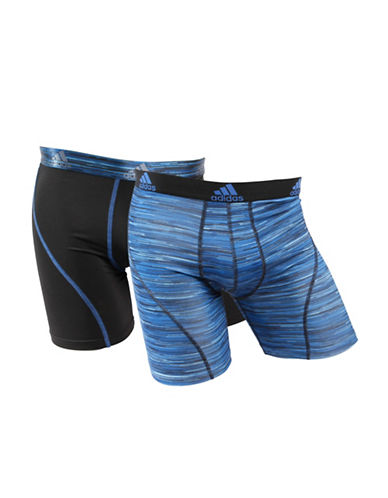 Adidas Two-Pack Climacool Boxer Briefs-BLUE/BLACK-X-Large 89153358_BLUE/BLACK_X-Large