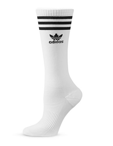 Adidas Originals Knee High Socks-WHITE-One Size