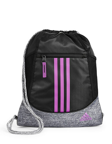 Adidas Alliance II Heathered Sackpack-BLACK-One Size