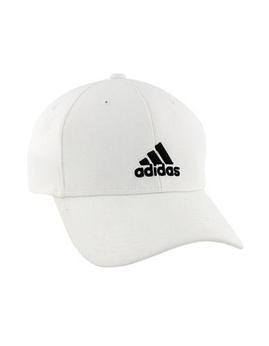 Adidas Rucker Stretch Fit Cap-WHITE-Small/Medium