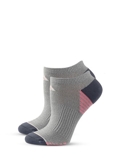 Adidas Two-Pack Super No-Show Socks-GREY-One Size