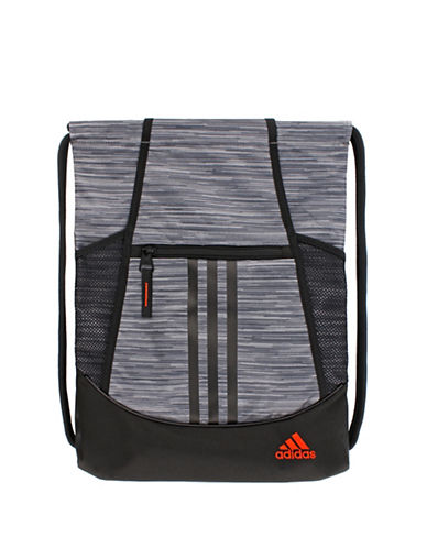 Adidas Cinch-Closure Backpack-GREY-One Size