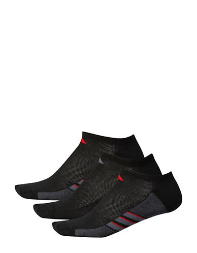 Adidas Three-Pack Superlite Ankle Socks-BLACK-Large