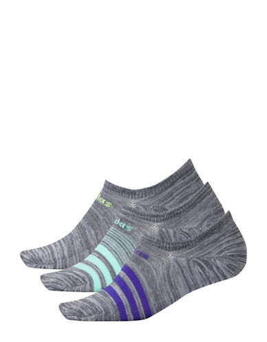 Adidas Three-Pack Superlite Socks-GREY-One Size
