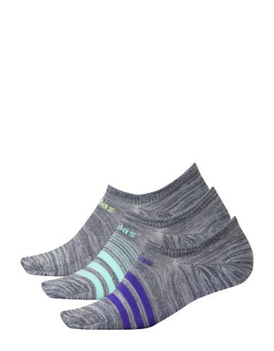 Adidas Three-Pack Superlite Socks-GREY-One Size