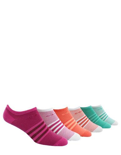 Adidas Six-Pair Superlite No-Show Socks-MAGENTA-One Size