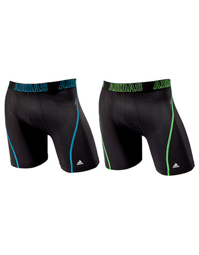 Adidas Sport Performance Climacool 2 Pack Boxer Brief-BLACK-Medium
