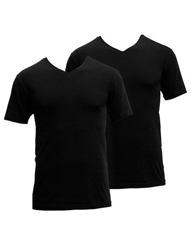 Adidas Two-Pack Stretch T-Shirts-BLACK-X-Large 87687962_BLACK_X-Large