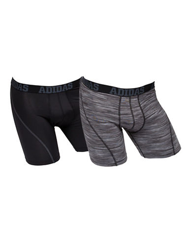Adidas Two-Pack Climacool Boxer Briefs-BLACK-Large