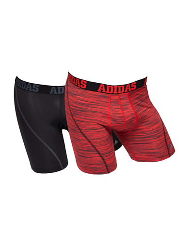 Adidas Two-Pack Climacool Boxer Briefs-RED/BLACK-Large