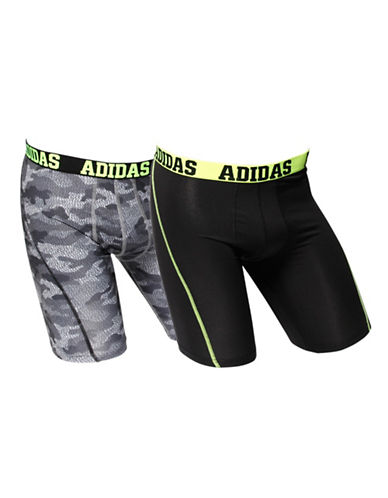 Adidas Two-Pack Climacool Midway Briefs-BLACK CAMO-Medium